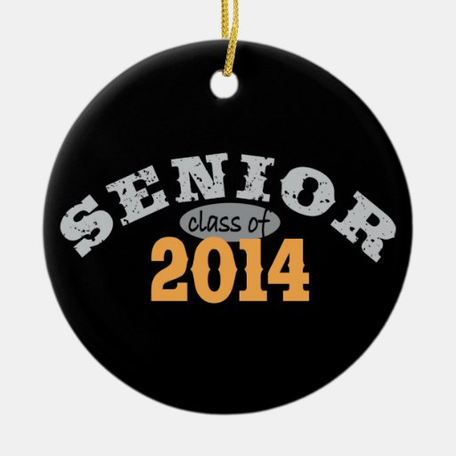 Senior Class of 2014 Double-Sided Ceramic Round Christmas Ornament