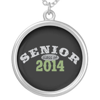 Senior Class of 2014 Silver Plated Necklace