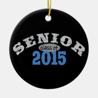 Senior Class of 2015 Round Ceramic Decoration