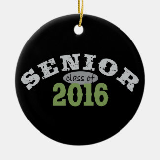 Senior Class of 2016 Green Christmas Ornaments