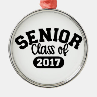 Senior Class of 2017 Silver-Colored Round Decoration