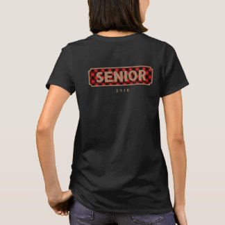 Senior Class of 2018 Burlap + Buffalo Plaid Tee