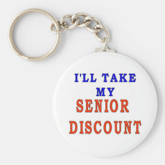SENIOR DISCOUNT BASIC ROUND BUTTON KEY RING