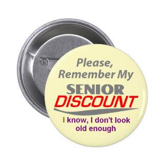 SENIOR DISCOUNT Button