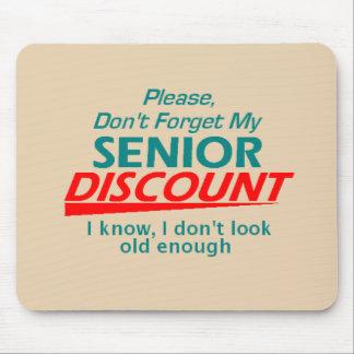 Senior Discount Mousepad