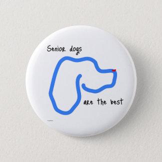 Senior Dogs Button