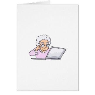 SENIOR ON COMPUTER CARD