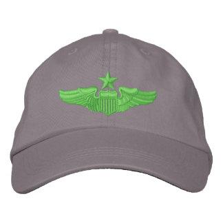 Senior Pilot Embroidered Baseball Caps