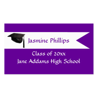 Senior Purple Name Card Pack Of Standard Business Cards