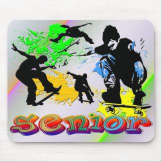Senior - Skateboarding Mouse Pad