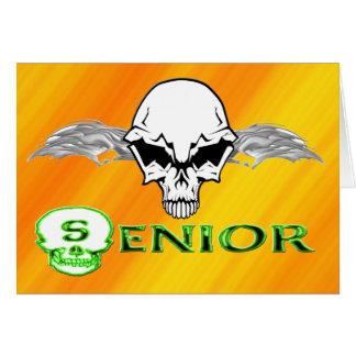 Senior - Skull Wings Greeting Card