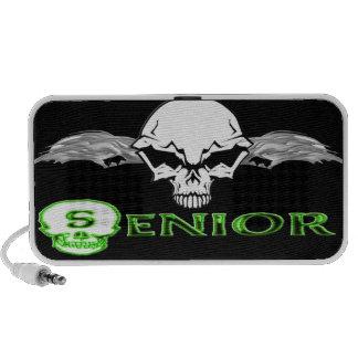 Senior - Skull Wings Doodle Portable Speaker