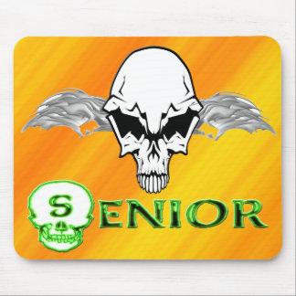 Senior - Skull Wings Mouse Pad