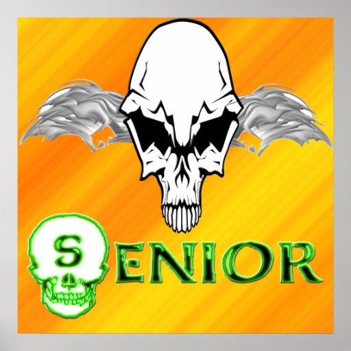 Senior - Skull Wings  Poster