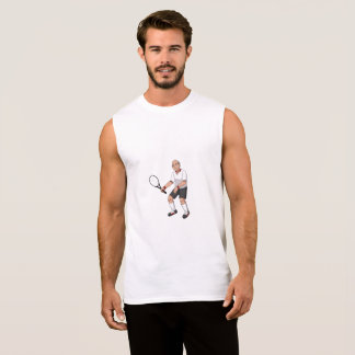 Senior Tennis Player Sleeveless Shirt