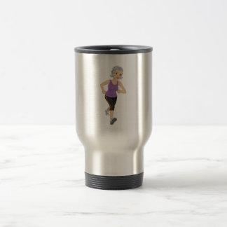 Senior Woman Runner Travel Mug