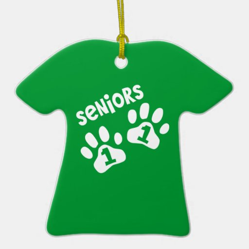 Seniors '11 Paw Prints - front and back Christmas Tree Ornament