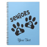 Seniors '12 Paw Prints Spiral Note Book