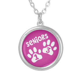 Seniors '13 Paw Prints - PINK Pendants