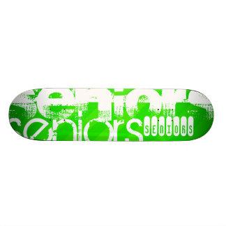Seniors; Neon Green Stripes Skate Board Decks