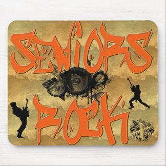 Seniors Rock - Guitar Players Mouse Pad