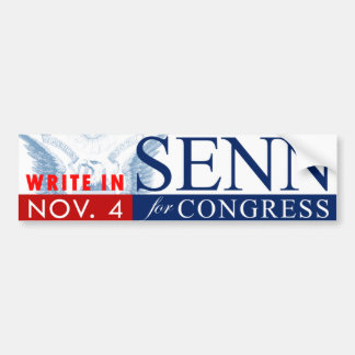 SENN for CONGRESS: Bumpersticker Bumper Sticker