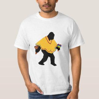 Senor Squatcho de Mayo with Poncho T-Shirt