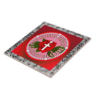 Señora De La Caridad Del Cobre Large Square Tile