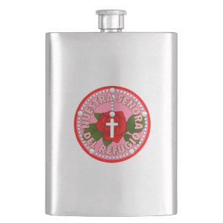 Señora del Refugio Hip Flask