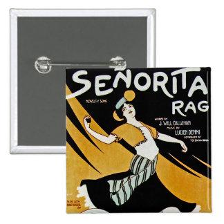 Senorita Rag 15 Cm Square Badge