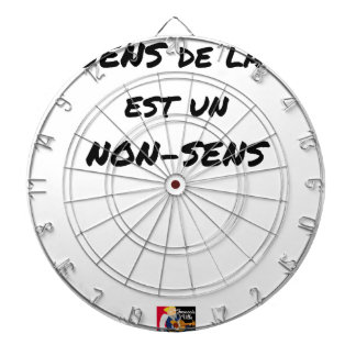 SENS OF the LIFE EAST a NONSENSE - Word games Dartboard