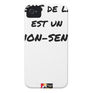 SENS OF the LIFE EAST a NONSENSE - Word games iPhone 4 Case-Mate Case