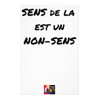 SENS OF the LIFE EAST a NONSENSE - Word games Stationery