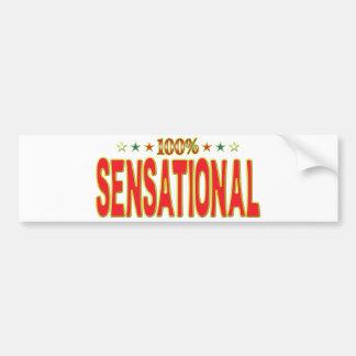 Sensational Star Tag Bumper Sticker
