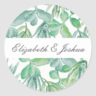 Sensational Succulents Wedding Classic Round Sticker