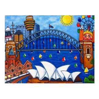 Sensational Sydney Post Card By Lisa Lorenz