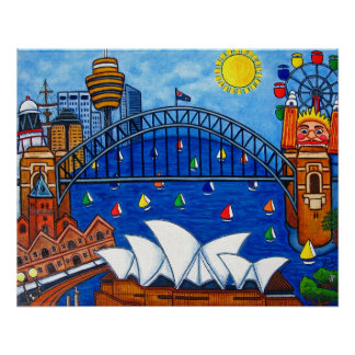 Sensational Sydney Print by Lisa Lorenz