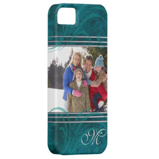 Sensational Teal Flair Photo Iphone Five Case