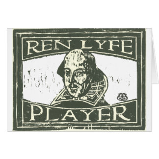 Senseshaper Woodcut: Ren Lyfe Player- Shakespeare Card