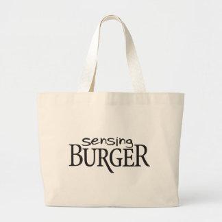 Sensing Burger Jumbo Tote Bag