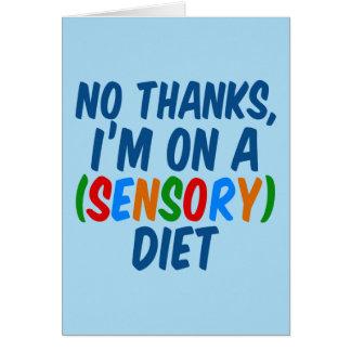 Sensory Diet Card