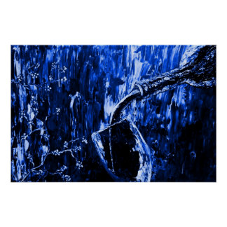 Sensual Moments Blue Fine Art Poster Print