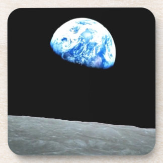 Sensual MOON night : Ideal add Greeting Text Beverage Coasters