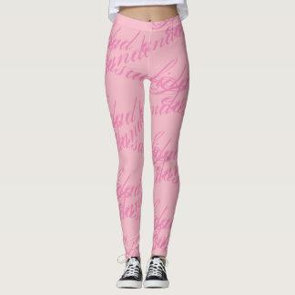 sensualidad andando leggings rosa,pink
