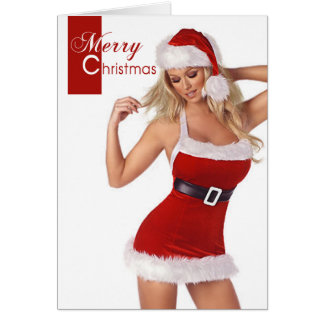 Sensuous Woman Merry Christmas Card