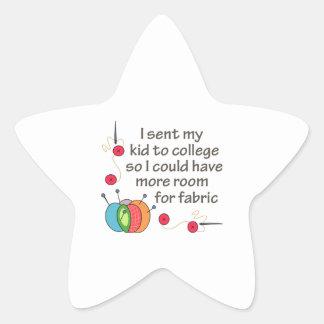 SENT MY KID TO COLLEGE STAR STICKER