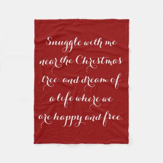 Sentimental Christmas poem Fleece Blanket