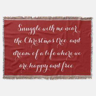 Sentimental Christmas poem Throw Blanket