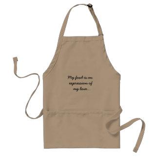 Sentimental kitchen apron