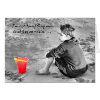 Sentimental Missing You Beach Bucket of Memories Card
